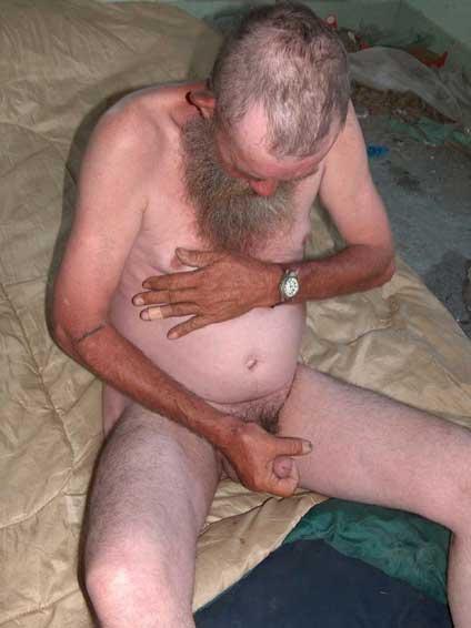 Naked hobo men consider, what